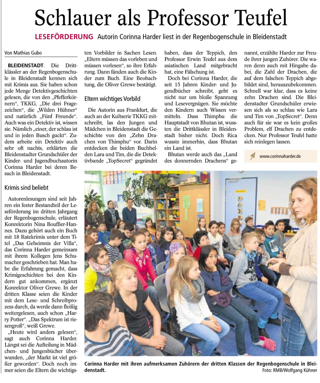 Autorenlesung Harder Feb 2015